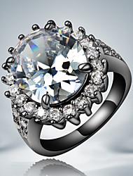 plaqué or noir d'Elva femmes bague en diamant