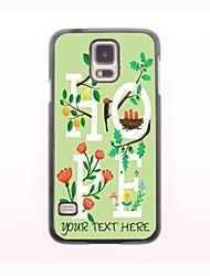 caja del teléfono personalizado - esperanza del caso del diseño de metal hierba para el mini samsung galaxy s5