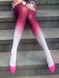 Bloody Red Gradient Velvet Gothic Lolita Stockings