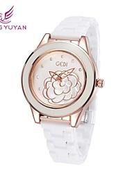 GEDI® Luxury Brand Women Watches Fashion White Ceramic Band Rhinestone Rose Gold Quartz Watches Women(Assorted Colors)