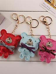 sorridente keychain faccia orso (più colore)