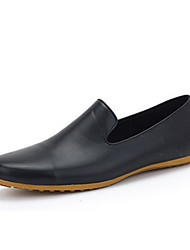 Men's Shoes Casual Leatherette Loafers Black/White
