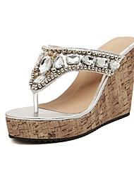 NOBS женщин все соответствующие клин пятки богемной обувь