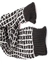 Women's Joker Black Mohair Plaid Wool Scarf