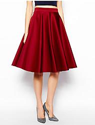 une ligne jupe bouffante de style occidental de Peng La femmes