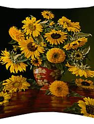 girassol e veludo vaso vermelho capa almofadas decorativas de Van Gogh
