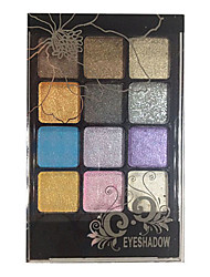 12 Eyeshadow Palette Dry Eyeshadow palette Powder Normal Smokey Makeup / Daily Makeup / Party Makeup