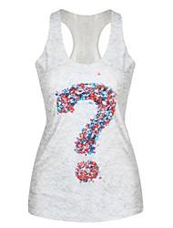 Women's U Neck Vest , Cotton Blends Sleeveless
