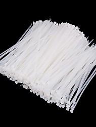yds-200m 5 x 200 milímetro tie de auto-travamento cabo de nylon embrulha brancos (500pcs)