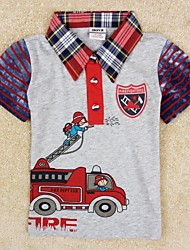 Children's T shirt Boys Besigner Kids Brand Tops Printed Cartoon Fireman Children's Clothing Boys Tees