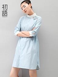 toyouth ® 2015 vestido de manga saia das mulheres na fêmea