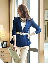 shangfei ™ temperamento de la manera de las mujeres delgadas de vestir exteriores con cinturón
