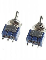 DIY Toggle Switch / 102 Single Joint / 3-Pin ON-ON (5pcs)