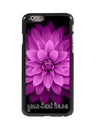 Personalized Phone Case - Pink Flowers Design Metal Case for iPhone 6 Plus