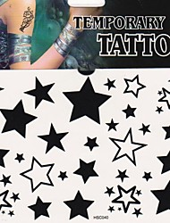 1Pc Fashion Star Tattoo Stickers Temporary Tattoos