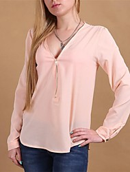 Women's Pink/Red/White/Black/Green/Yellow Shirt Long Sleeve