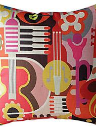 motif abstrait coton / lin imprimé taie d'oreiller décoratif