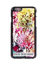 caso di telefono personalizzato - fiori acquerello cassa del metallo di disegno per iPhone 6