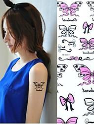 Pegatinas 1pc mariposa bowknot tatuaje tatuajes temporales