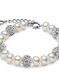 mode bracelet de perles de cristal Natrural de strass balle
