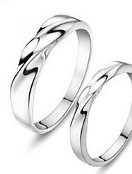 hermosas joyas 925 anillos de plata fina (un par)