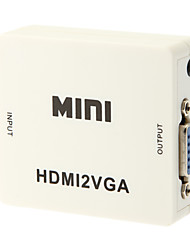HDMI HD converter MINI HDMI turn VGA HDMI TO VGA Converter 1080P switch