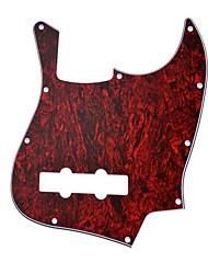 3Ply 10 Hole Red Tortoise Shell Jazz Bass Pickguard