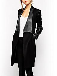 Tiffni Women's Causual European Linen Slim Bodycon Coat