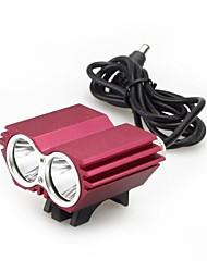 fiets rood met licht koplamp sport zaklamp professionele dark knight k2d 2 geleide usa cree xml-T6 2400lm