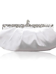 Women Satin Event/Party Evening Bag White / Red / Black / Champagne