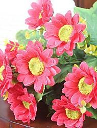 10 Head Dew Sunflowers High Simulation Flowers