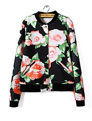 MOSCHIN col rond manteau imprimé floral de style occidental des femmes