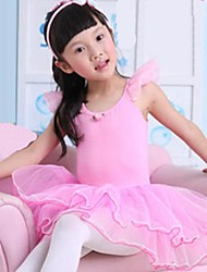 Kids' Dancewear Dresses Children's Training Cotton Pink Ballet Sleeveless Natural