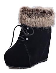 Zhuoyue Women's Fashion Round Toe Thick Heel Boots