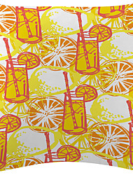 Tasty Orange Juice Velvet Decorative Pillow Cover