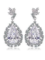 18K Platinum Gold Plated Teardrop Cubic Zircon Diamond Earrings Chic And Elegant Women CZ Earrings