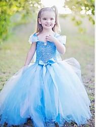 meisje bevroren lange jurk meisje jurk prinses jurk mouwloze jurk