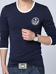 Men's Solid Color Long Sleeve T-Shirt