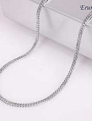 eruner®unisex plata 2 mm collar de cadena no.47