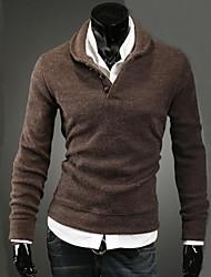 camisola projeto botão cogumelo moda malha masculina