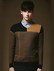 Men's Leisure V-neck Sweater Splicing Sweater
