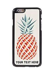 caso de telefone personalizado - abacaxi caso design de metal para o iPhone 6