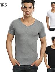 sparren merk mannen kleding nieuwe mode-sport ongedwongen 100% katoen zwart wit grijs v-hals t-shirts t-shirts mannen