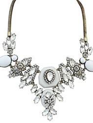 женская мода преувеличением капель алмазов сплава ожерелье