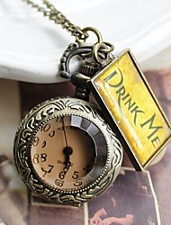 Bronze Vintage Watches Big Pocket Watch Fashion Necklace Quartz Pocket Watch