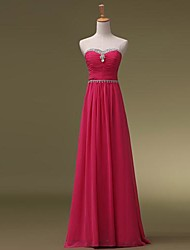 Floor-length Sweetheart Bridesmaid Dress - Elegant Sleeveless Chiffon