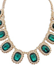 estilo europeu pedra preciosa luxo refinado colar (mais cores)