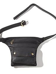 nouveau style sac de ceinture noire de unisexe