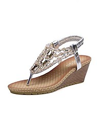 Women's Shoes Open Toe Wedge Heel Sandals with Rhinestone Shoes More Colors available