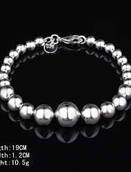 Fashion Sterling  Silver Beading Women's Bracelet